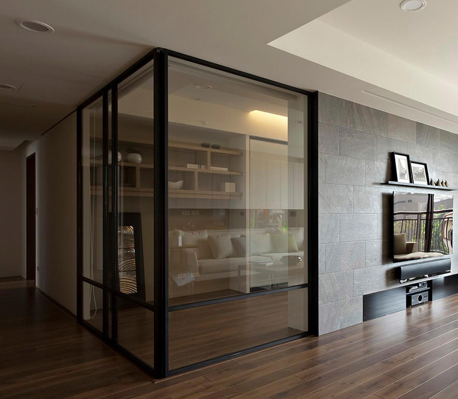 Glass walls and doors