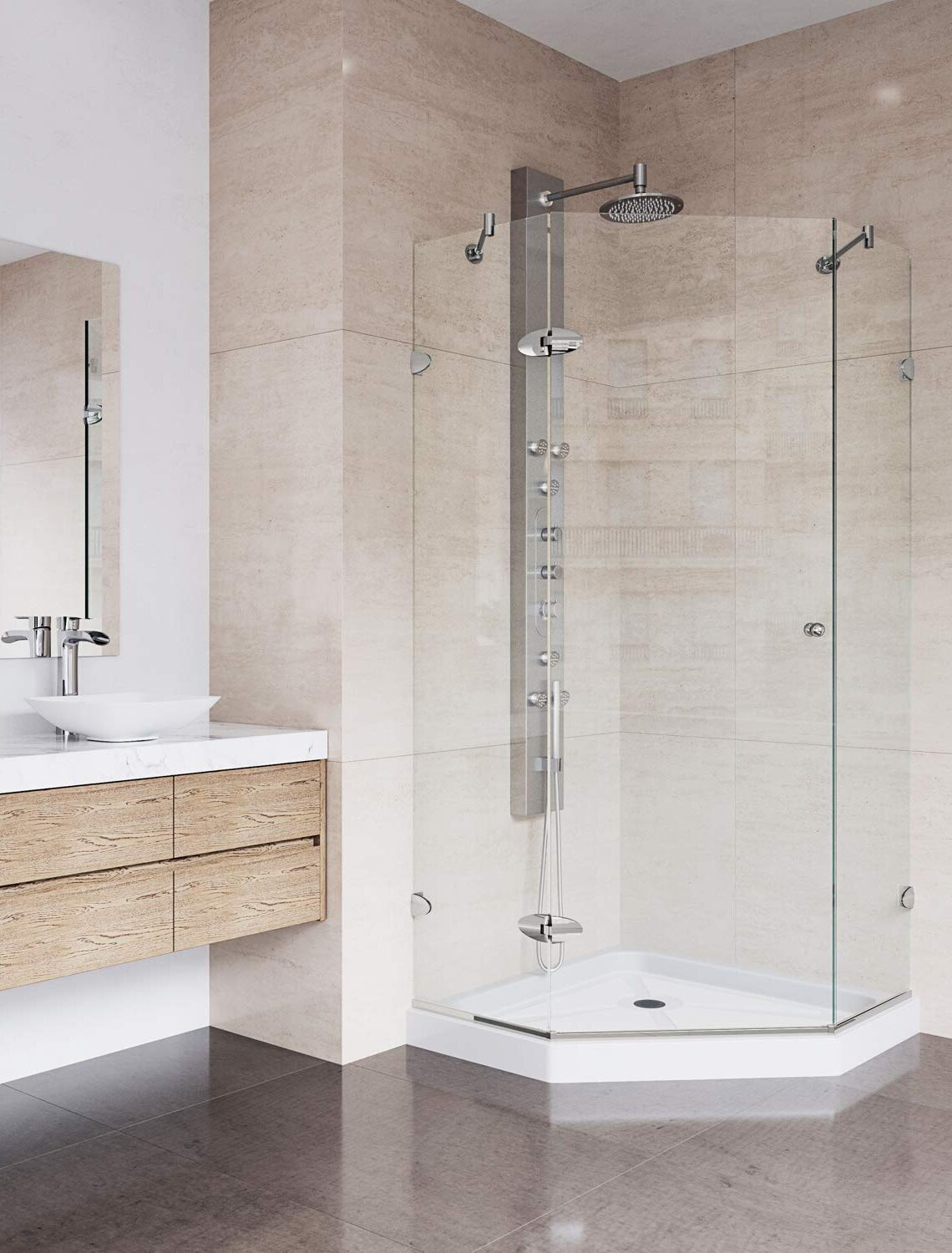 NEO-ANGLE SHOWER ENCLOSURES