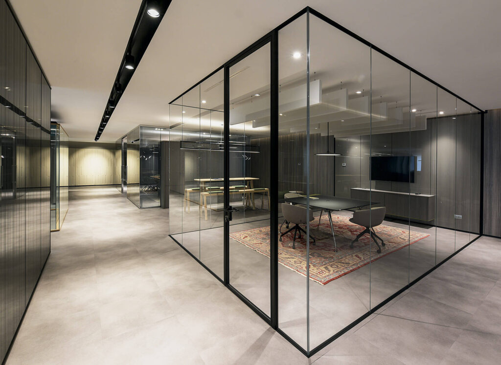 NYC Glass wall partitions